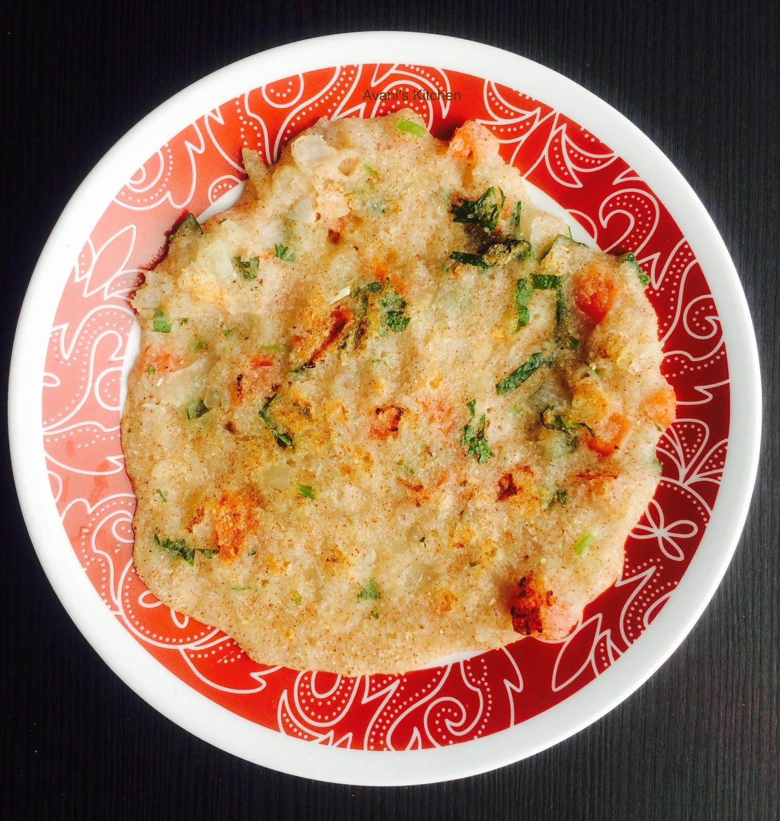 Avani's Kitchen: White Corn Rava Dosa