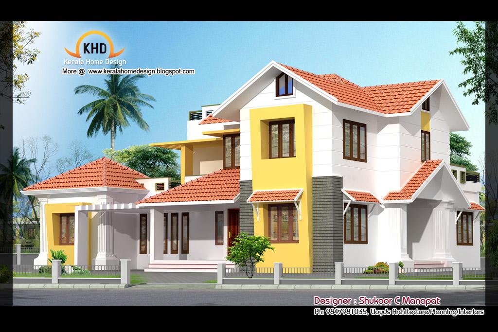 Elevation Plan Ymca : Beautiful sq ft bedroom villa elevation and plan