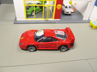 Matchbox rubber tires Ferrari F40