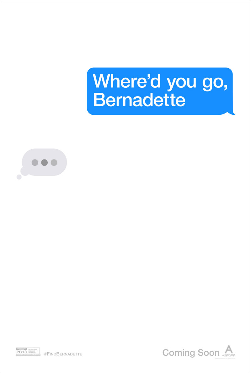 WHERE'D YOU GO BERNADETTE poster