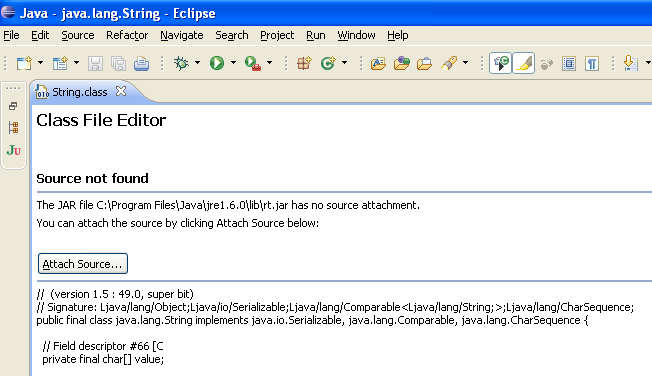 How to Attach Source Code in Eclipse to JAR Files for