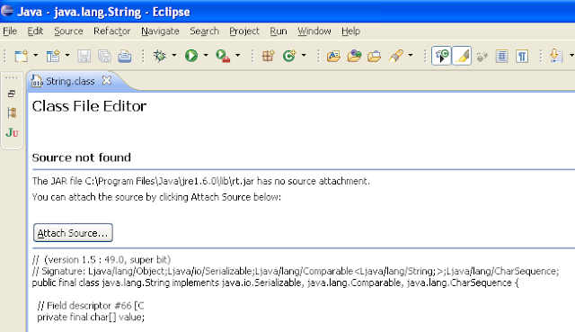 Attaching source in Eclipse for debugging Java JDK