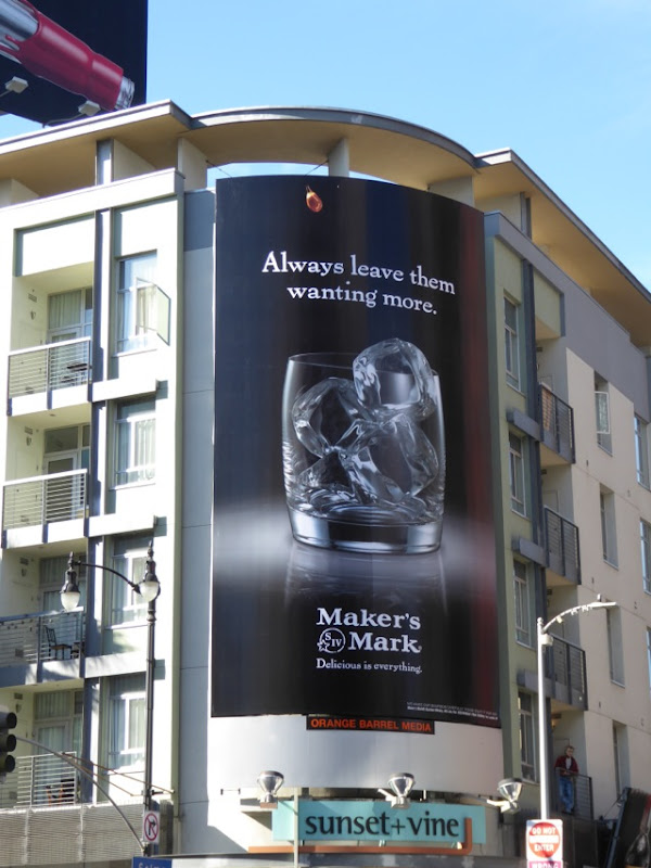 Makers Mark empty glass billboard