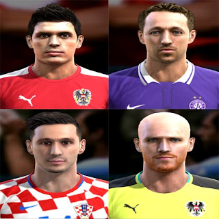 Faces: Manuel Ortlechner, Nikola Kalinic, Robert Almer, Zlatko Junuzovic, Pes 2013