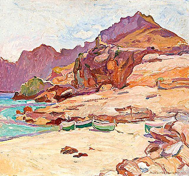 Alexis Macedonski, Cala San Vicente, Mallorca en Pintura, Mallorca pintada, Paisajes de Mallorca