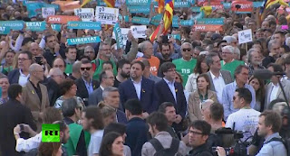 Carles Puigdemont and four of his ex-ministers