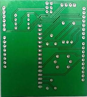 Detector de humo con Arduino PCB fabricado por EasyEDA.