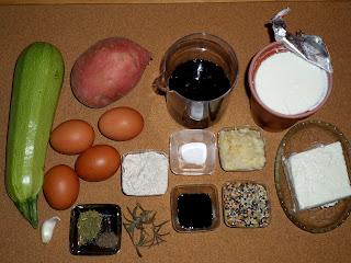 Рецепта за огретен със сладки картофи и тиквички