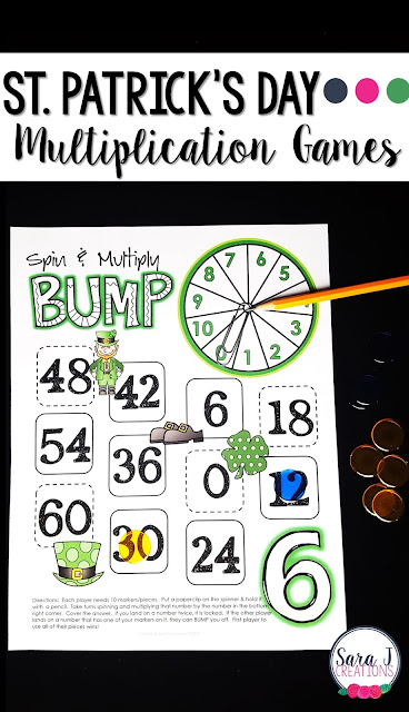 St Patrick's Day Multiplication Games are the perfect activity to practice those math facts.
