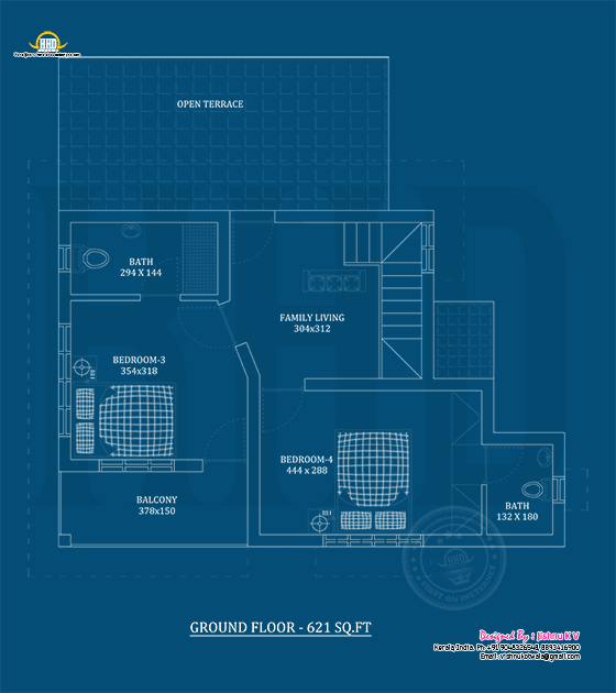 First floor plan blueprint