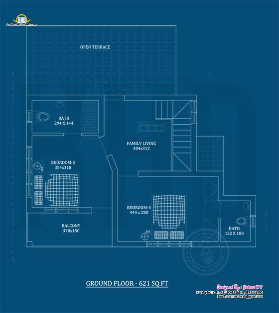 First floor plan blueprint