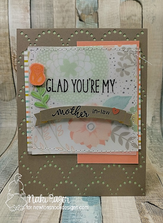 Mother in-law floral card by Naki Rager | Simply Relative & Lovely Blooms Stamp sets by Newton's nook Designs #newtonsnook
