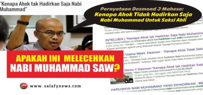 Apakah Ucapan Desmond Melecehkan Nabi Muhammad?
