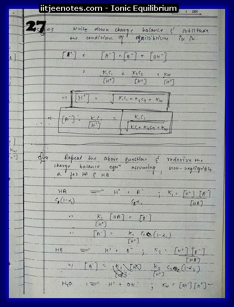 Ionic Equilibrium Notes11