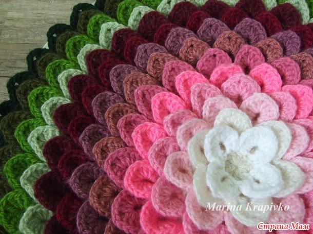 Ergahandmade Crochet Flower Pillow Free Pattern Step By Step