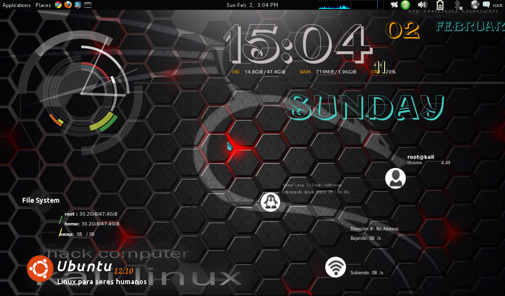 Conky Manager di Kali Linux