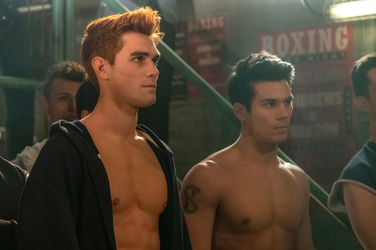 Drew Ray Tanner and K.J. Apa in Riverdale
