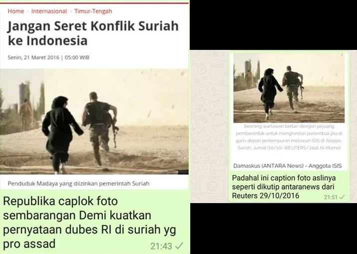 Netizen Bully Republika karena Plintir Foto; Klaim Dubes RI di Suriah Terbantahkan