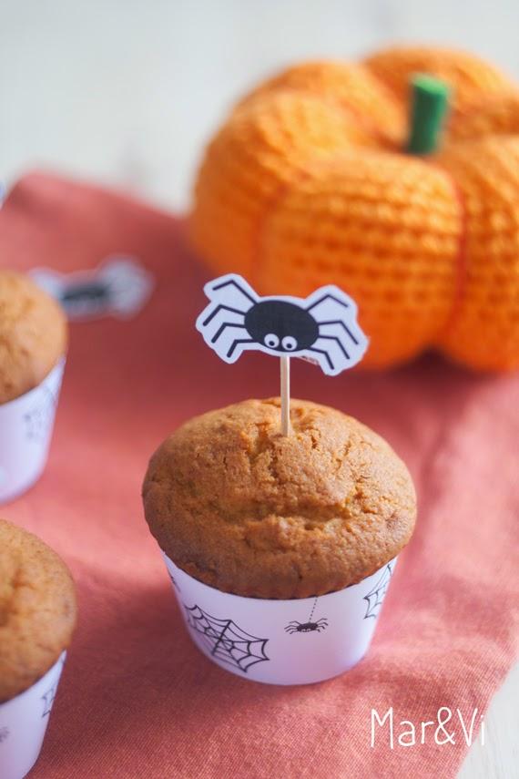 Muffins de calabaza paso a paso