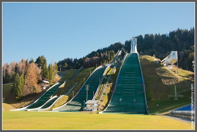 Trampolín salto Garmisch- Partenkirchen Baviera (Alemania)