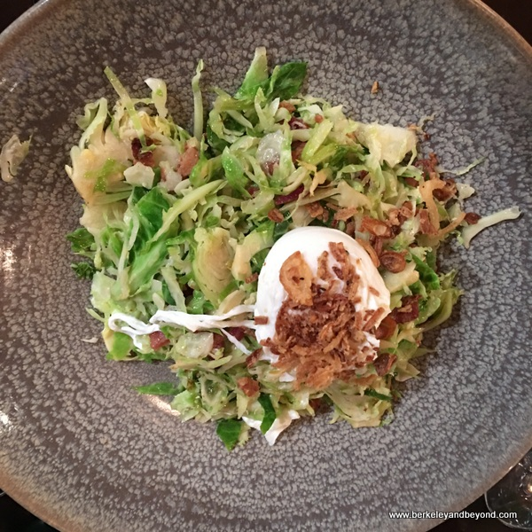 Brussels sprouts salad at The Cooperage in Lafayette, California