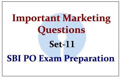 Important Marketing Questions- Set 11