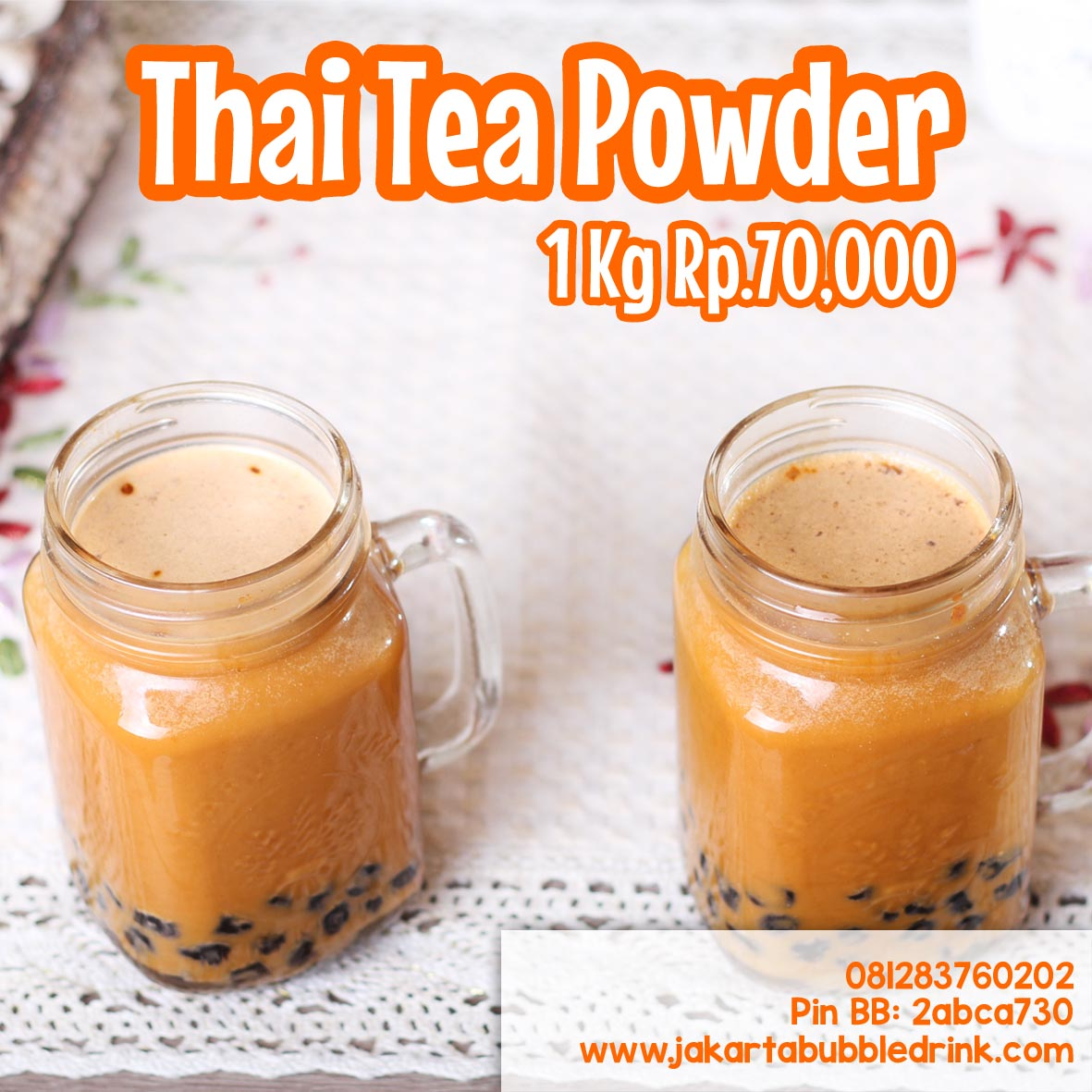 Bubuk Minuman Rasa Thai Tea Paling Laris di Makasar