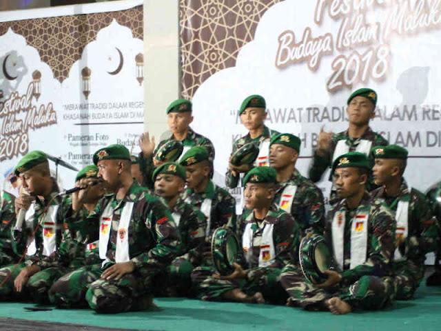 Satgas Yonif 711 Meriahkan Festival Budaya Islam Maluku 2018
