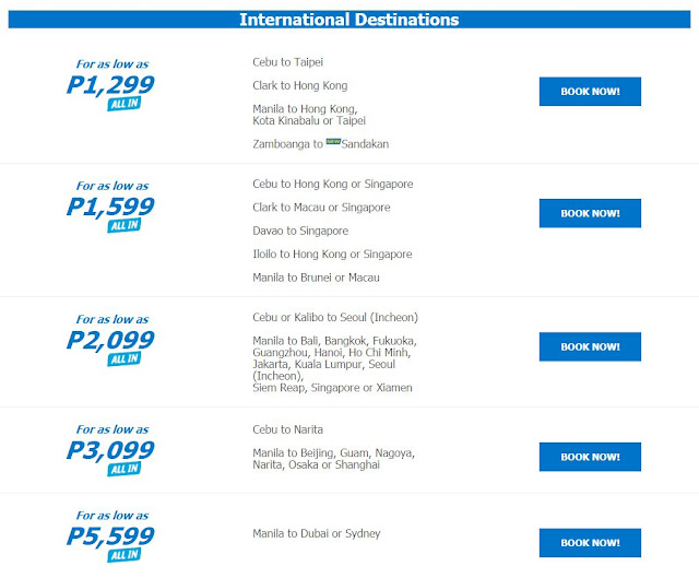 cebu pacific promo fare international 2018