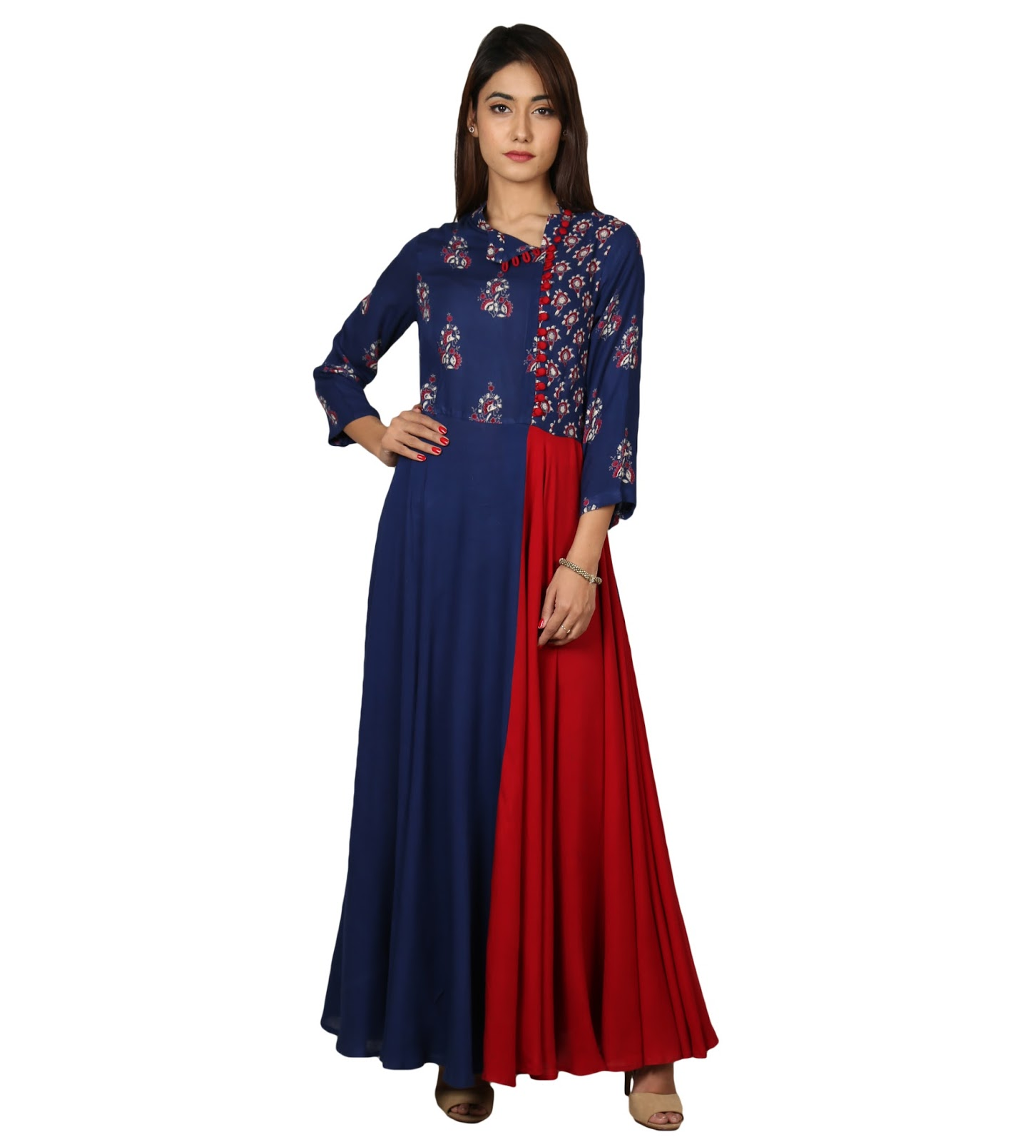 Gown style cape kurtis