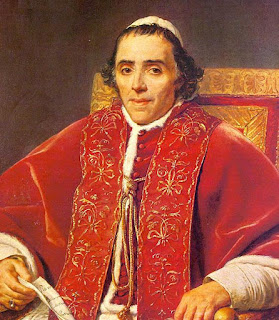 Pope Pius VII, a portrait by Jacques-Louis David, which can be seen in the Louvre in Paris