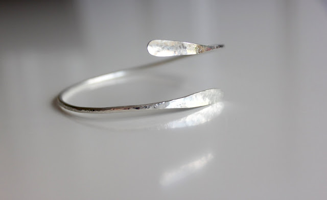 Silver Bangle from WildNora on Etsy