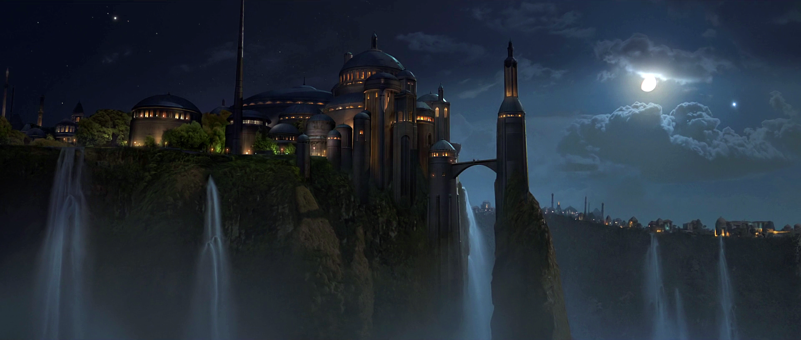 The Royal Palace of Naboo, located in the captial city of Theed from Star Wars.