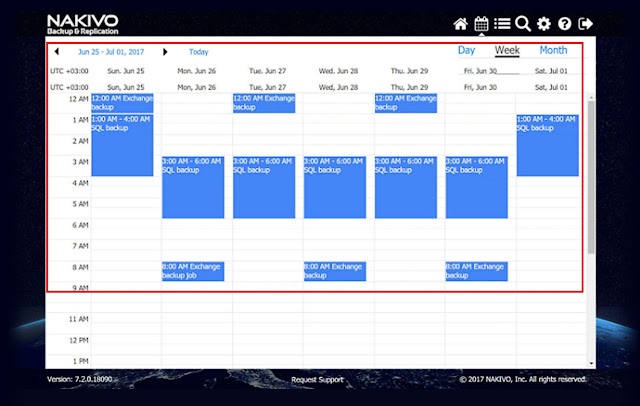 NAKIVO Backup & Replication v7.2 añade otra gran característica, el Calendario Dashboard.