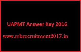 UAPMT Answer Sheet 2016