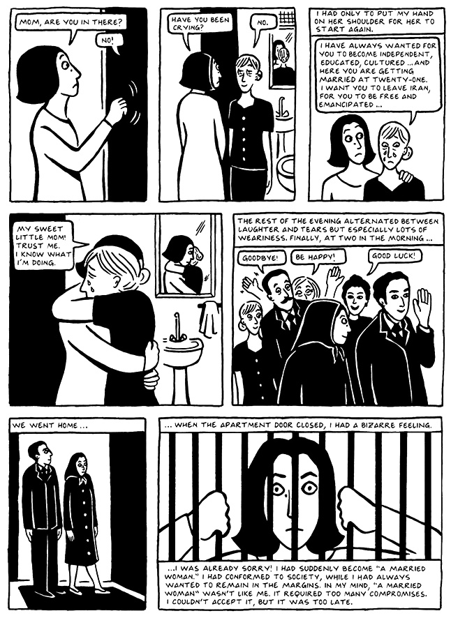 Read Chapter 17 - The Wedding, page 163, from Marjane Satrapi's Persepolis 2 - The Story of a Return