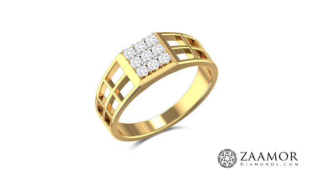 Basilwish Diamond Men's Ring