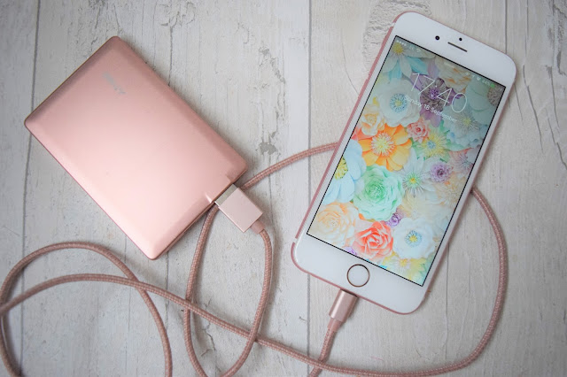 What Cat Says - Tech | PNY Rose Gold Power Bank and 1.2m Cable Charger