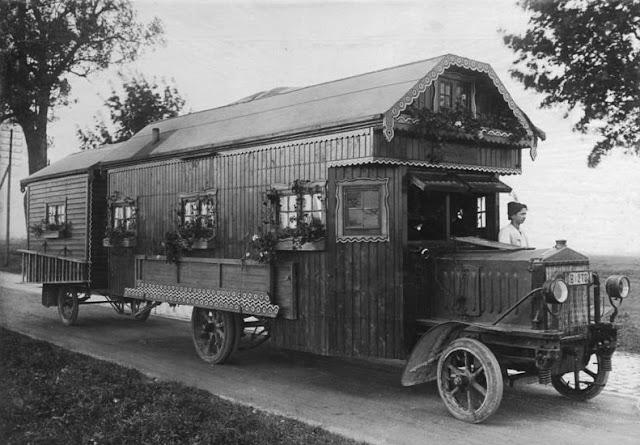 Curiosas casas móviles a principios del siglo XX