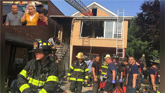 WOO QUE PENA : Niña dominicana, abuelo y vecino mueren quemados en incendio sospechoso en Queens; madre y hermano graves.