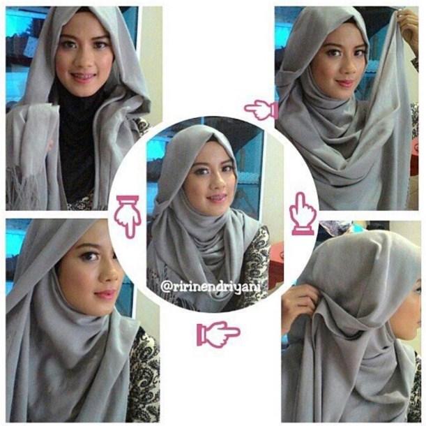 Aneka Tutorial Hijab Pashmina Kaos Modern Terpopuler 2016