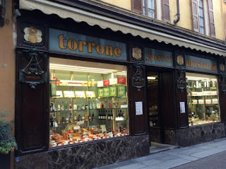 The Sperlari shop in Cremona specialises in torrone (nougat)