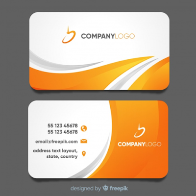 Template Kartu Nama - Modern Business Card Template With Abstract Design