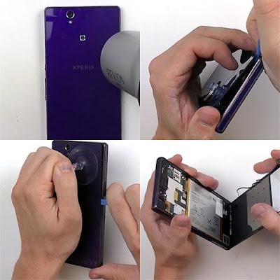 Các bước thay màn hình điện thoại sony z4