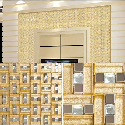 silver stainless steel backsplash kitchen mosaic yellow crystal glass mosaics diamond tiles