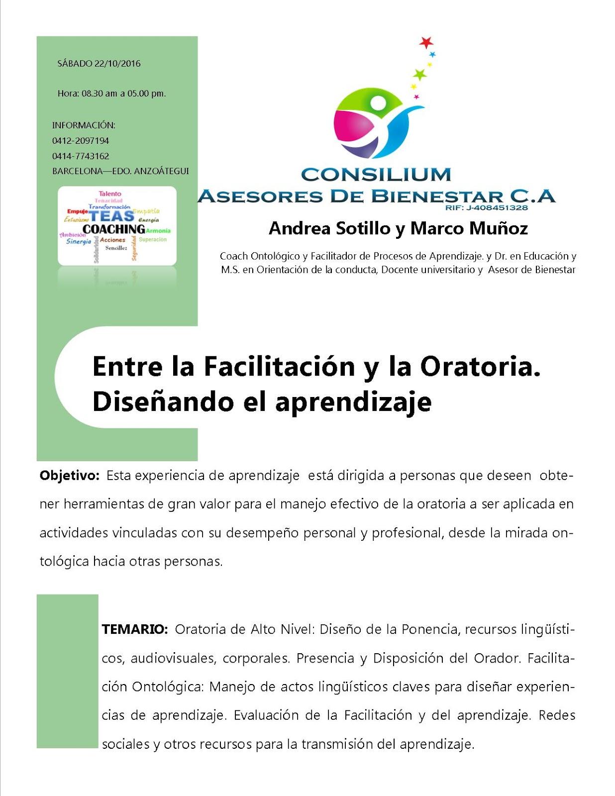 Profesor Marco Muñoz: Oratoria, PNL, Coaching, Bienestar ...
