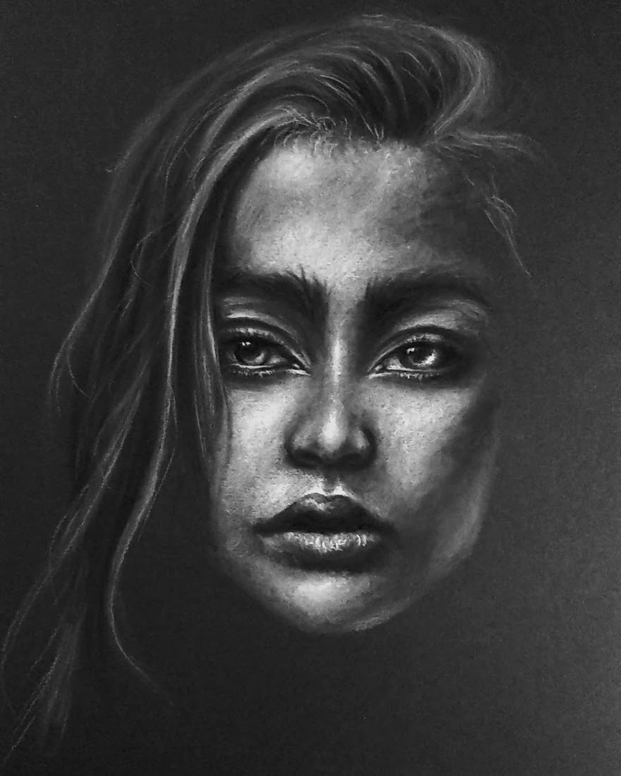 03-Peaceful-and-Calm-Krystan-Grace-Humans-and-Dogs-Charcoal-Portrait-Drawings-www-designstack-co