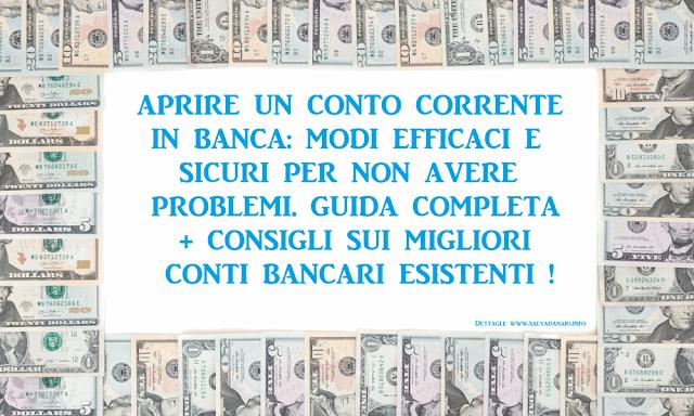 5 Modi efficaci e sicuri per aprire un conto in banca