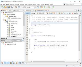 Program 'Hello World' Menggunakan Java